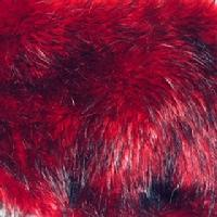 garnet fox faux fur fabric