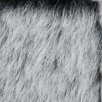 grey frost fake fur fabric