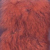 rust fake fur fabric