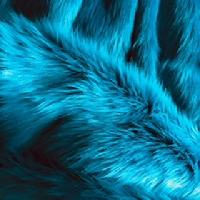 turquoise luxury faux fur