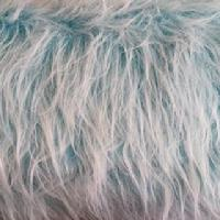 green shag fur fabric